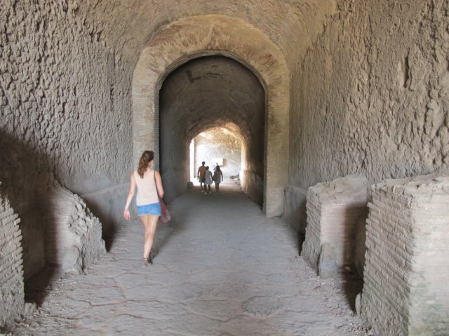 Entering the amphitheatre