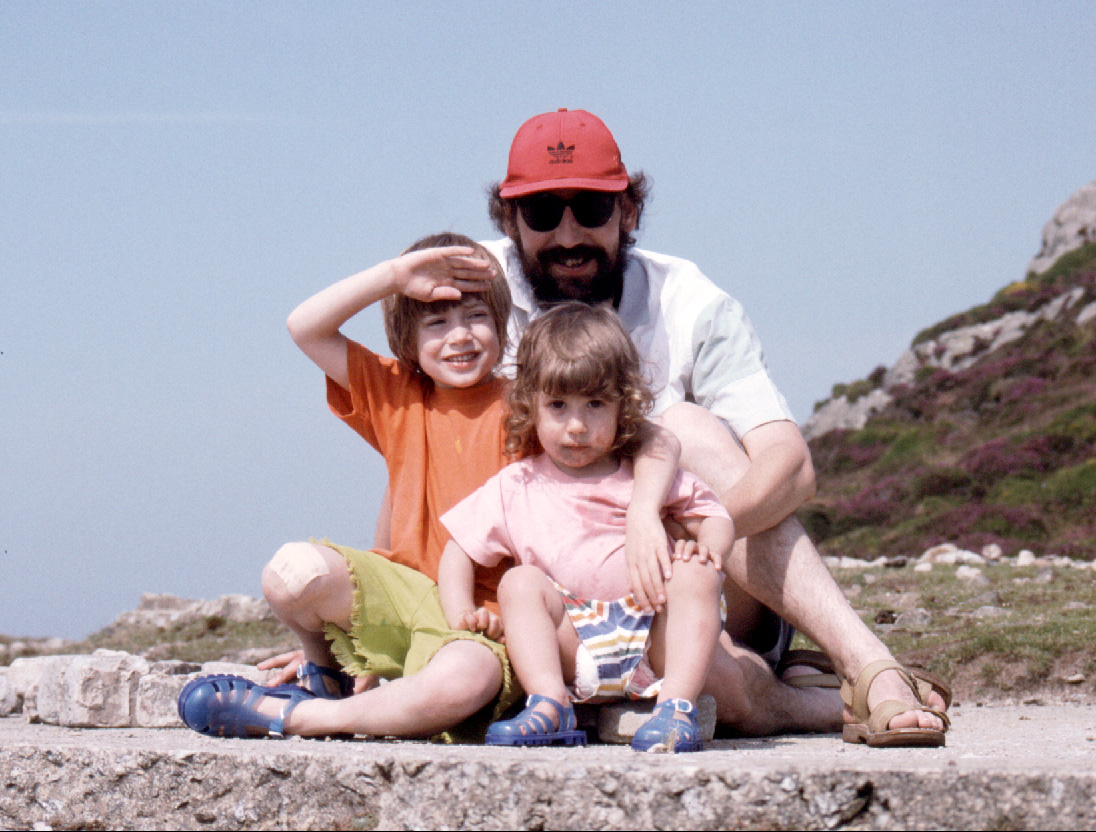 Andy & kids in Wales c1987
