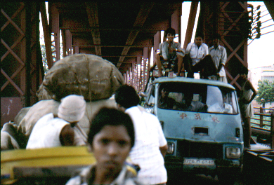 Crowded Bridge over Jumna