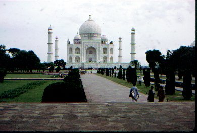 The Taj Mahal - first view from inside main gate