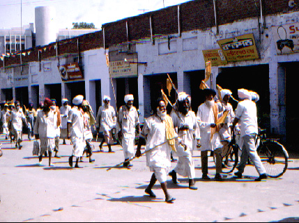 Sikh march passes by