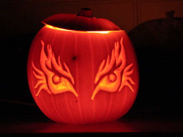 carved pumpkin lantern